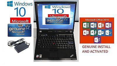 Cd Rw Wireless Notebook - THINKPAD LAPTOP WIN 10 WIreless 250GB HDD CDRW DVD Word 2016, Xcel,PPT