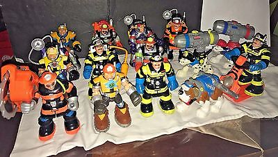 Fisher Price Mattel~ Rescue Heroes 1999 2000~Lot of 14 Heroes