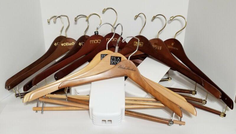 11 Wood Suit Hangers Macys Dillards Nordstrom Polo Parisian Jos Bank Brooks Bro