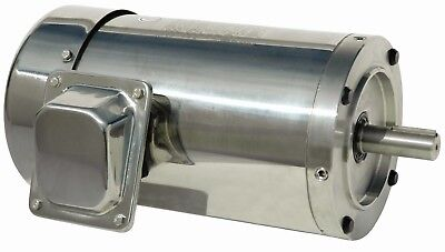 2 Hp Electric Motor 145tc Stainless Steel Washdown 3 Phase 1800 Rpm Premium