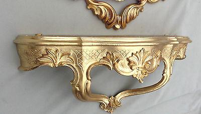 Wandkonsole Barock Gold Spiegelkonsolen Antik 45x21 Wandregal Wandablage cp68