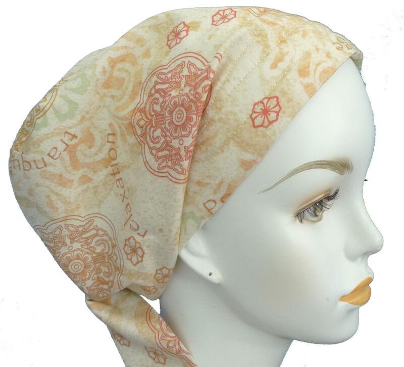 Yoga Chemo Cancer Hat Alopecia 100% Cotton Hairloss Scarf Turban Headwrap