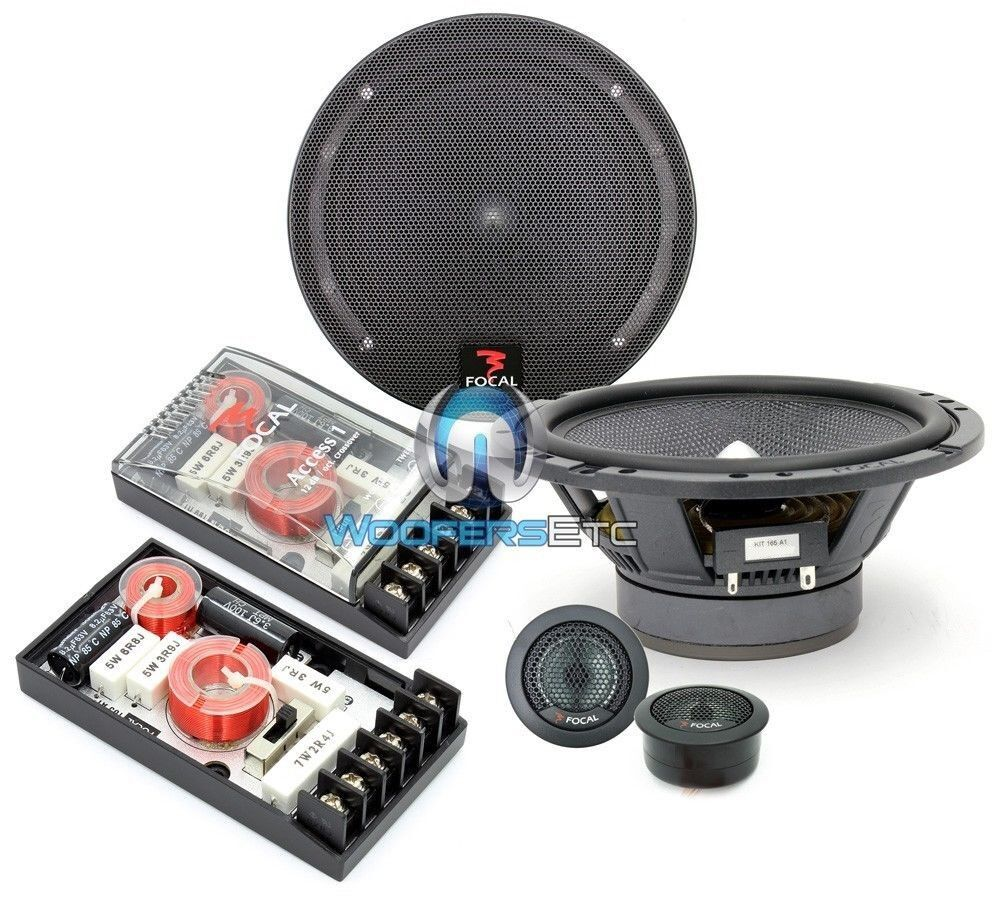 """FOCAL 165A1 6.5"""" 120W RMS 2-WAY COMPONENT SPEAKERS MIDS TWEE"""