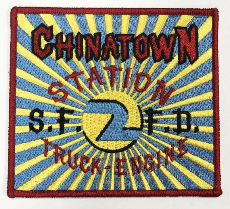 San Francisco Fire Patch Station 2-Chinatown New  (Red Merrow, Plastic Backing)