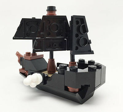 Constructibles Mini Pirate Ship   Lego  Parts   Instructions Kit