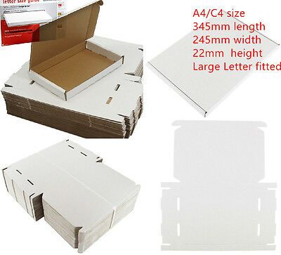 50 x C4 A4 SIZE BOX 240x345x22mm ROYAL MAIL LARGE LETTER POSTAL CARDBOARD PIP 4U