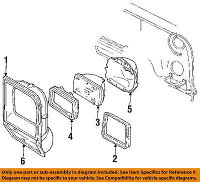 Dodge CHRYSLER OEM Ramcharger Headlight Head Light Lamp-Trim Bezel Left 55054645