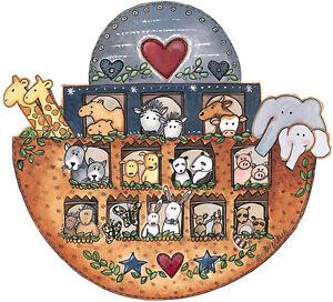 Noahs Ark Animals Ship 25 Wallies Wallpaper Sticker Decal Border Wall Decor Noah