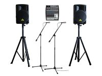 PA HIRE SYSTEM Hire Package Sound KARAOKE MACHINE SPEAKERS