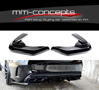 CUP Diffusor Seiten Ansätze SCHWARZ für Mercedes C-Klasse  W205 AMG C43 Flaps