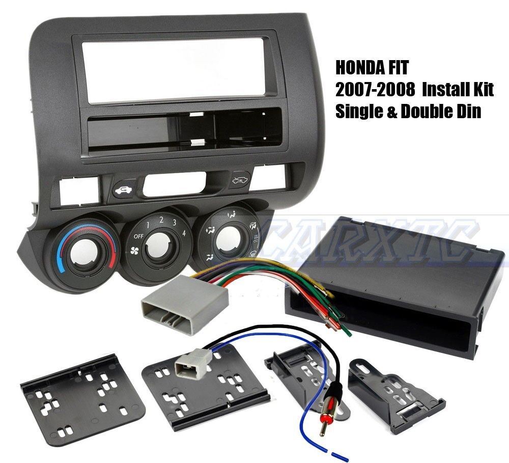 Single Double Din Dash Radio Wire Harness Antenna Adapter Kit Wiring General Features Install