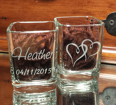 Bed Side Wedding Ring Holder Glass Free Personalization - He