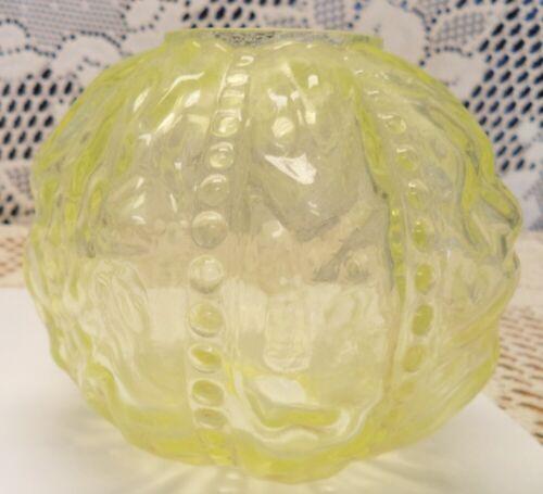 Fenton Vaseling Beaded Curtain  Mini oil Lamp shade NOS - GTC