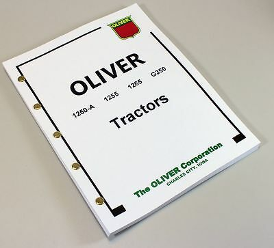 Minneapolis Moline G350 Tractor Service Repair Technical Shop Manual Oliver 1265