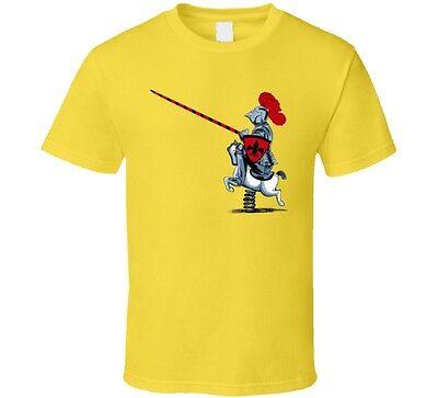 Knight On Kiddy Horse Funny Cartoon T