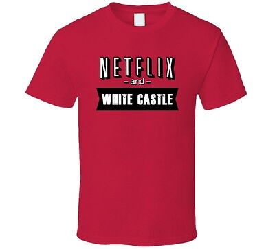 Netflix And White Castle Fast Food Fan T Shirt - White Fast-food