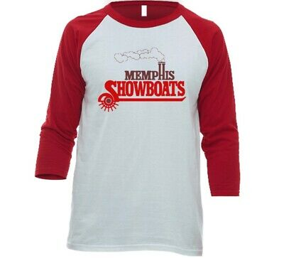 Memphis Showboats USFL Football Team 3/4 Sleeve Raglan Tee Shirt With Logo