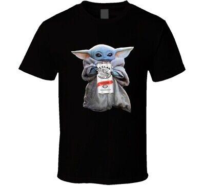Baby Yoda Drinking White Claw Hard Seltzer Star Wars The Mandalorian Fan T -