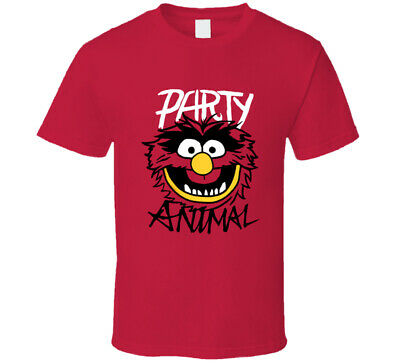The Muppets Party Animal T Shirt Tee Short Sleeve Size Small - 3XL New