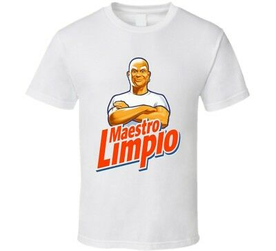 Mr Clean Maestro Limpio Retro Funny Costume T - Mr Clean Costume