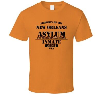 New Orleans Insane Asylum Inmate Halloween Costume T Shirt