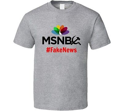 Msnbc  Fake News T Shirt Novelty Fake News Media Clothing Fake News   Great Gift