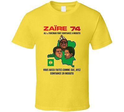 Rumble In The Jungle  74  T Shirt  Muhammad Ali  George Forman  Zaire