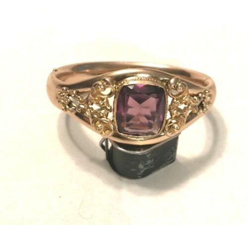Vintage Gold Filled Victorian Bangle Bracelet circa late 1800