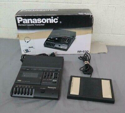 Panasonic Rr-830 Standard Desktop Cassette Transcriberrecorder Wretail Box