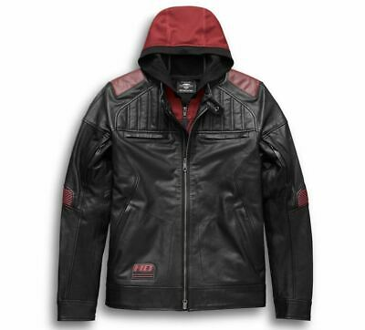 Harley-Davidson Men's Donhill 3-in-1 Leather Jacket  97026-19VM  Size Lrg
