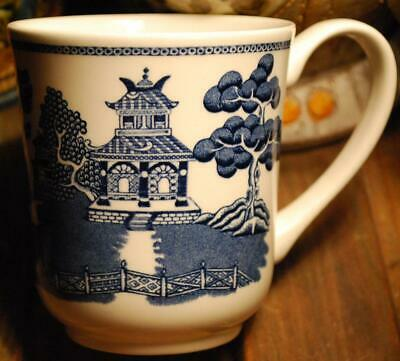 Willow Border - BLUE WILLOW Johnson Brothers COFFEE MUG Border Earthenware England LARGE SIZE