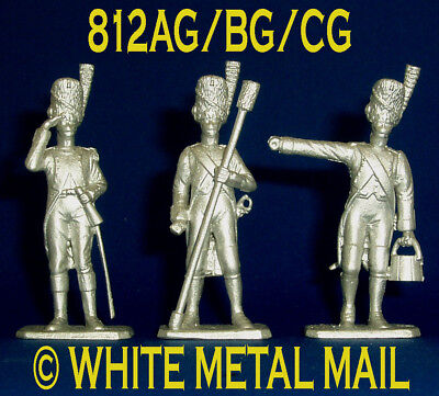 Napoleonic Casting 812AG/BG/CG Set 1:32 Napoleonic Battery Comm. Ramrod & Bucket