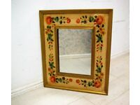 Beautiful fully hand painted mirror (india jane)