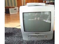 """Hitachi C14D24 14"""" TV/DVD PLAYER"""
