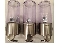 Simplehuman Triple Wall Mount Pumps Soap Shampoo Lotion Liquid Dispenser - New