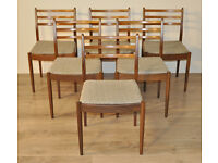 Attractive Set of Six 6 Vintage Retro Teak G Plan Back Dining Kitchen Chairs