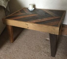 Beautiful reclaimed wood side table