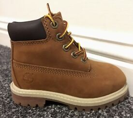 Infant Size 6 Timberland Classic Boots Wheat Nubuck