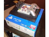 Playstation 3 Super Slim 500 GB + two wireless controllers + Fifa 14
