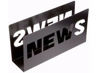 Magazine Rack News Metal Spray Painted