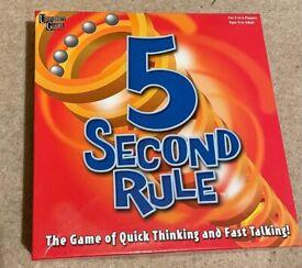 Like new 5 Second Rule board game