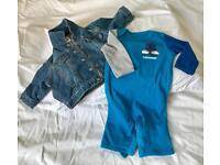 Baby Gap Denim Jacket & All Star Converse suit 3-6m