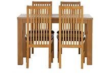 Pemberton Oak Veneer Dining Table & 4 Paris Chairs - Grey