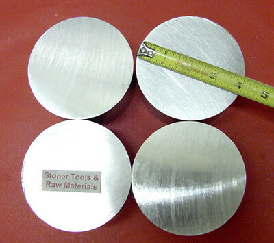 4 Pieces 4 Aluminum 6061 Round Solid Rod 12 Long T6 Extruded Lathe Bar Stock