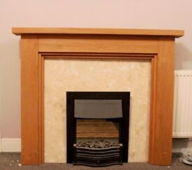 Solid Wood and Stone Fire Surround (fire not included) and matching hearth