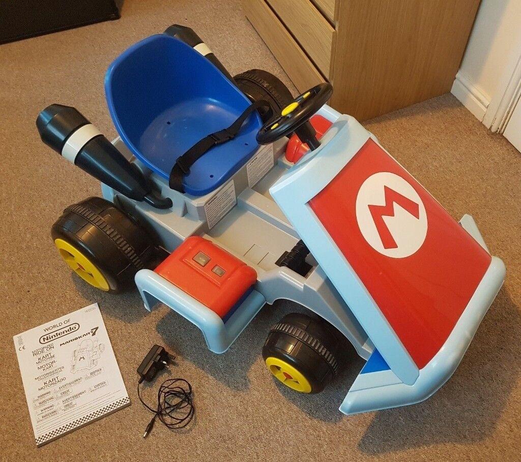 Jakks Pacific Nintendo Super Mario Kart 6v Electric Ride On Vehicle Car Vgc