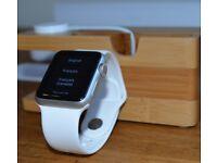 Apple Watch Series 1 38mm Silver Aluminium Case White Sport Band - (MJ2T2B/A)