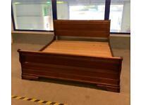 Willis & Gambier Solid Oak super king sleigh bed frame!