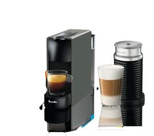 Nespressso BEC250GRY1AUC1 Essenza Mini Coffee Machine with Aeroccino, One Size, Gray