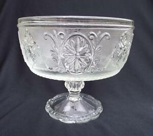 Vintage Clear Glass Compote Candy Dish